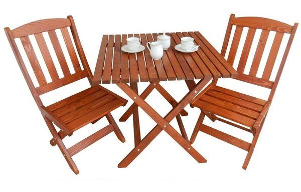 Masuta cu 2 scaune pliabile lemn masiv