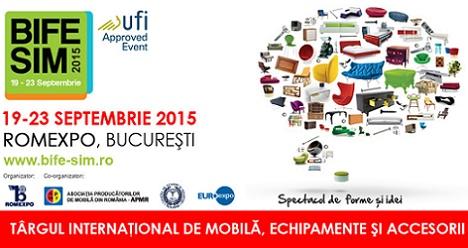 Pe 19 septembrie incepe Targul international de mobila, echipamente si accesorii BIFE-SIM