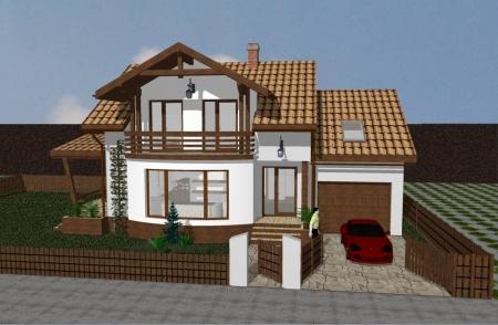Proiect casa mini case si vile proiecte case for Proiecte case cu garaj
