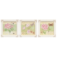 SET TREI TABLOURI DECORATIVE SHABBY CHIC - SET TREI TABLOURI DECORATIVE SHABBY CHIC