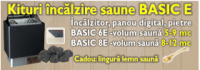 KIT INCALZIRE SAUNE BASIC 6E - KIT INCALZIRE SAUNE BASIC 6E