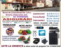 AGENTIA ROT SERVICII CONSULTANTA ASIGURARI ACTE AUTO 86737