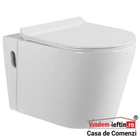 VAS WC NOVELA SUSPENDAT CU CAPAC SOFTCLOSE D 525X370X335 MM - VAS WC NOVELA SUSPENDAT CU CAPAC SOFTCLOSE D 525X370X335 MM