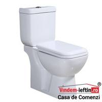 VAS WC CIMBERLY DUOBLOC CU CAPAC SLIM SOFTCLOSE D 690X790X360 MM - VAS WC CIMBERLY DUOBLOC CU CAPAC SLIM SOFTCLOSE D 690X790X360 MM