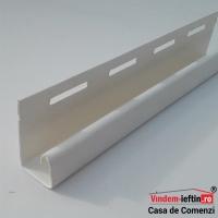 PROFIL J PVC 3.81ML CULOARE ALB/MARO - PROFIL J PVC 3.81ML CULOARE ALB/MARO