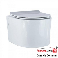 VAS WC NOVELA SUSPENDAT CU CAPAC SOFT CLOSE 525X370X335 - VAS WC NOVELA SUSPENDAT CU CAPAC SOFT CLOSE 525X370X335