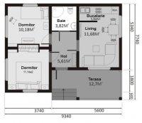 Casa cu 2 etaje 18550