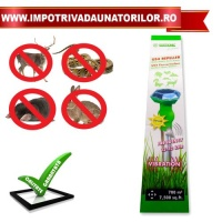 APARAT SOLAR CU ULTRASUNETE SI VIBRATII ANIMAL REPELLER US4 - APARAT SOLAR CU ULTRASUNETE SI VIBRATII ANIMAL REPELLER US4