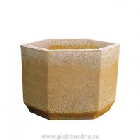 JARDINIERE VASO HEXAGON VB 124G FINISAJ GRI - JARDINIERE VASO HEXAGON VB 124G FINISAJ GRI