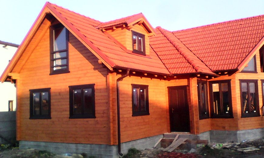 Casa lemn masiv timisoara case si vile case de lemn for Casa clasica srl