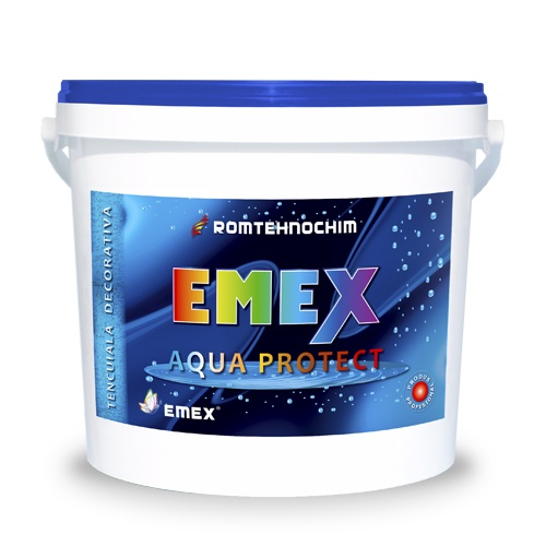 TENCUIALA DECORATIVA IMPERMEABILA EMEX AQUA PROTECT /KG - ALB
