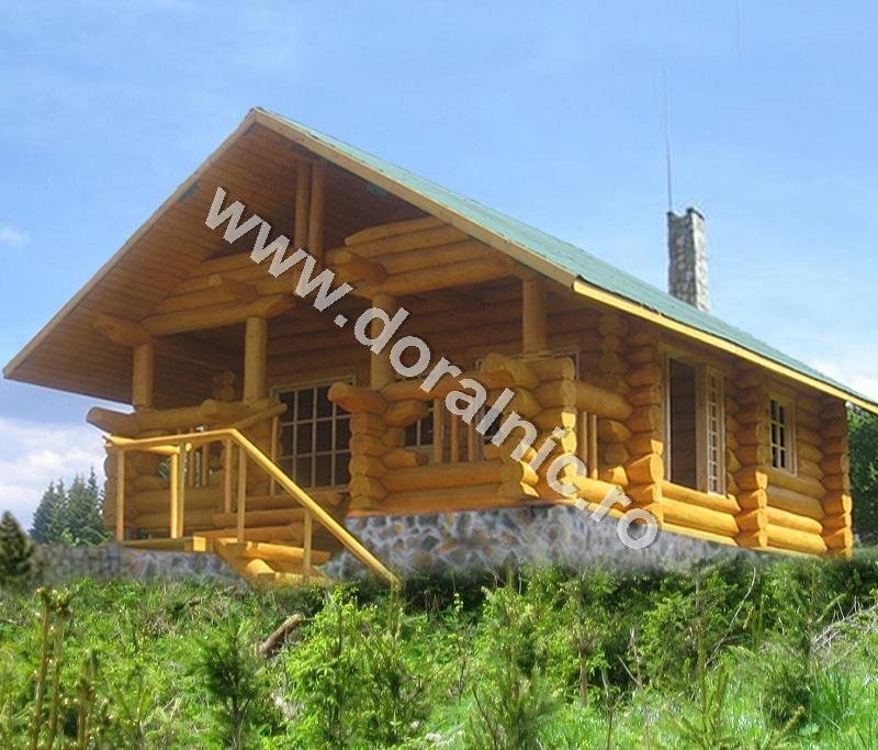 Preturi cabane din lemn rotund case si vile case de vacanta for Case de lemn rotund