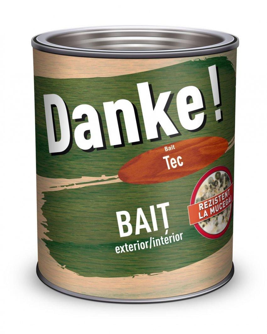 BAIT COLORAT DANKE PENTRU LEMN EXTERIOR/INTERIOR