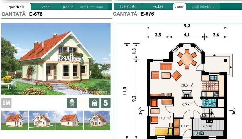 Proiecte case la cheie planuri de case archeton case - Plan de casas ...
