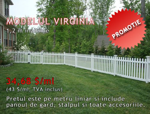 GARD PVC GRADINA, TIP TRADITIONAL,  MODEL VIRGINIA