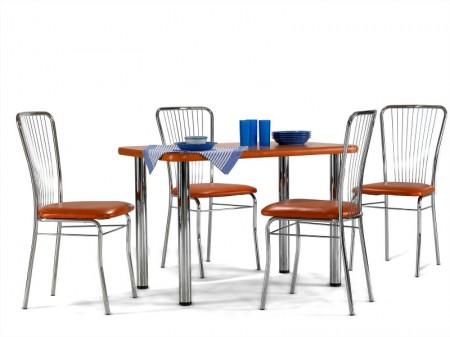 Masa dreptunghiulara si scaune neron bucatarie mese si for Masa cu scaune dedeman