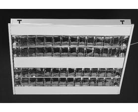 CORP INCASTRAT PENTRU ILUMINATUL FLUORESCENT - IVORY - 4X24W, 600X600, OPTICA DKL16, ELECTRONIC, IP2