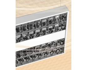 CORP APLICAT SAU SUSPENDAT PENTRU ILUMINATUL FLUORESCENT - BLACK - 4X24W OPTICA DKL16, ELECTRONIC, I