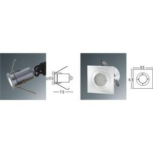 NICOLINA - CORP ROTUND CU 6 LED-URI DE CULOARE ALBA, 230V, 0.5W, 15 LUMENI, IP68