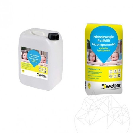 HIDROIZOLATIE WEBER.TEC HYDROPROTECT KIT (SAC: 20  KG + BIDON: 10 KG)