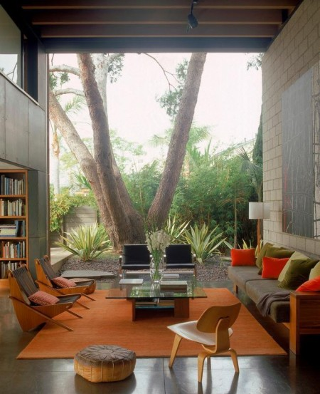 Imagine amenajare living modern, Palms Residence, Ehrlich Architects
