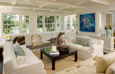 Imagine living decorat in alb, Lucy Interior Design