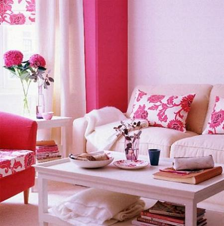 Decor floral in living